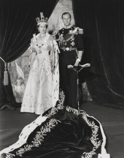 Queen Elizabeth II; Prince Philip, Duke of Edinburgh, by Cecil Beaton - NPG P1453