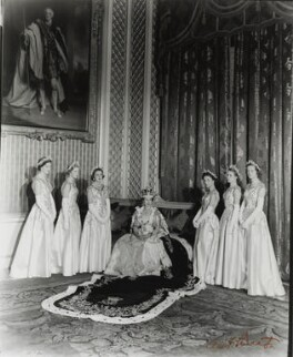 The Queen with her Maids of Honour, by Cecil Beaton - NPG P1454