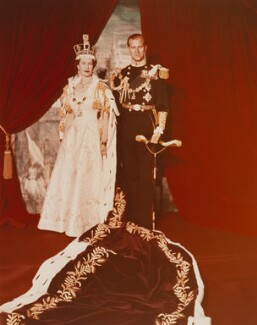 Queen Elizabeth II; Prince Philip, Duke of Edinburgh, by Cecil Beaton - NPG P1456