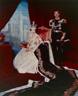 Queen Elizabeth II; Prince Philip, Duke of Edinburgh, by Cecil Beaton, 2 June 1953 - NPG P1458 - © V&A Images