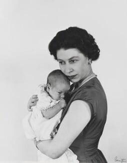 Prince Andrew, Duke of York; Queen Elizabeth II, by Cecil Beaton - NPG P1483