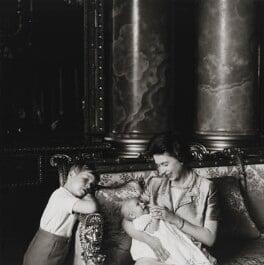Prince Andrew, Duke of York; Prince Edward; Queen Elizabeth II, by Cecil Beaton - NPG P1486