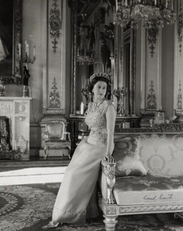 Queen Elizabeth II, by Cecil Beaton, October 1968 - NPG P1489 - © V&A Images