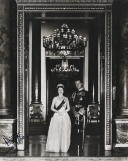 Queen Elizabeth II; Prince Philip, Duke of Edinburgh, by Anthony Buckley - NPG P1500