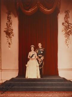 Queen Elizabeth II; Prince Philip, Duke of Edinburgh, by Anthony Buckley - NPG P1502