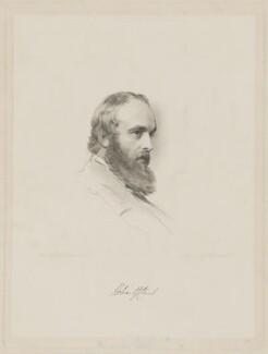 Robert Gascoyne-Cecil, 3rd Marquess of Salisbury, by William Holl Jr, after  George Richmond - NPG D40035