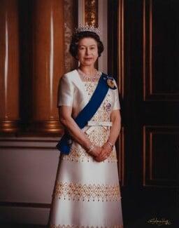 Queen Elizabeth II, by Dennis Constantine - NPG P1525