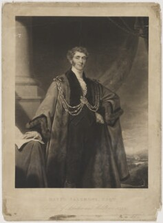 Sir David Salomons, 1st Bt, by Charles Turner, published by  Sir Francis Graham Moon, 1st Bt, after  Mary Martha Pearson (née Dutton) - NPG D40044