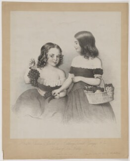 (Anthony) Lionel George Ashley; Victoria Elizabeth Chichester (née Ashley), Lady Templemore, by Alfred Tidey, published by  Dickinson & Son - NPG D40514