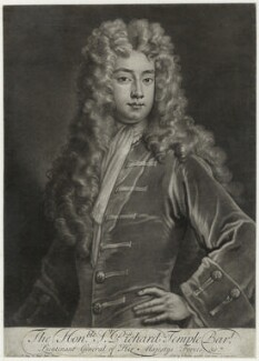 Richard Temple, 1st Viscount Cobham, by and sold by John Simon, after  Sir Godfrey Kneller, Bt - NPG D40509
