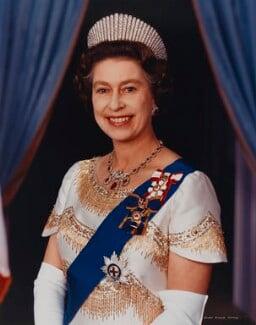 Prince Philip, Duke of Edinburgh; Queen Elizabeth II, by John Evans - NPG P1536