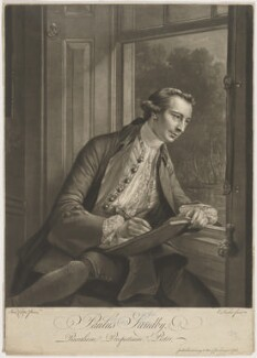 Paul Sandby, by Edward Fisher, after  Francis Cotes - NPG D40050