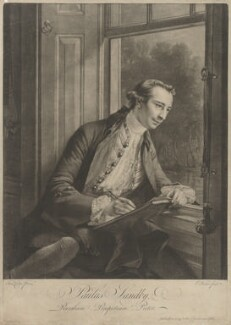 Paul Sandby, by Edward Fisher, after  Francis Cotes - NPG D40051