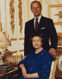 Queen Elizabeth II; Prince Philip, Duke of Edinburgh, by Tim Graham - NPG P1541
