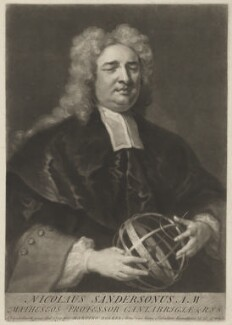 Nicholas Saunderson, by George White, after  John Vanderbank - NPG D40055