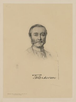 Thomas Henry Sanderson, 1st Baron Sanderson, by The Autotype Company, after  Henry Tanworth Wells - NPG D40056