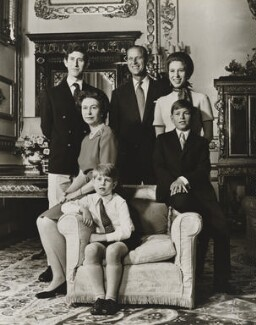 Queen Elizabeth II and her family, by Desmond Groves - NPG P1543