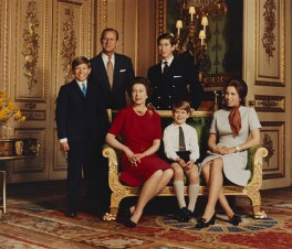 Queen Elizabeth II and her family, by Desmond Groves - NPG P1545