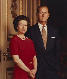 Queen Elizabeth II; Prince Philip, Duke of Edinburgh, by Desmond Groves - NPG P1546