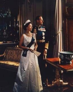 Queen Elizabeth II; Prince Philip, Duke of Edinburgh, by Yousuf Karsh - NPG P1557