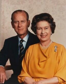 Prince Philip, Duke of Edinburgh; Queen Elizabeth II, by Yousuf Karsh - NPG P1568