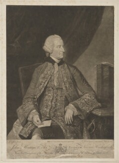 John Montagu, 4th Earl of Sandwich, by and published by Valentine Green, after  Johan Joseph Zoffany - NPG D40059