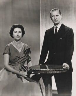 Queen Elizabeth II; Prince Philip, Duke of Edinburgh, by Donald McKague - NPG P1590