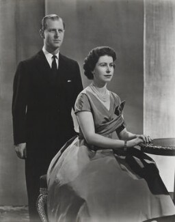 Prince Philip, Duke of Edinburgh; Queen Elizabeth II, by Donald McKague, December 1958, published April 1959 - NPG P1591 - © Camera Press Ltd; On loan from American Friends of the National Portrait Gallery (London) Foundation, Inc.: Gift of Mr. Ford Hill.