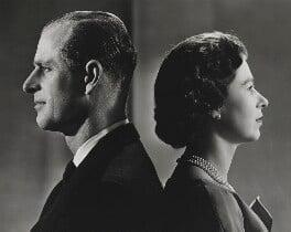 Prince Philip, Duke of Edinburgh; Queen Elizabeth II, by Donald McKague - NPG P1592