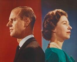 Prince Philip, Duke of Edinburgh; Queen Elizabeth II, by Donald McKague - NPG P1593