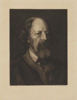 Alfred, Lord Tennyson, by Sir Hubert von Herkomer, published by  Goupil & Co - NPG D40523