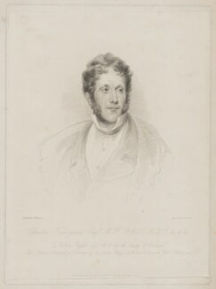 Charles Tennyson d'Eyncourt, by Frederick Christian Lewis Sr, published by  Colnaghi & Son, after  John Harrison Jr - NPG D40525