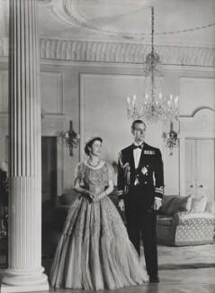 Queen Elizabeth II; Prince Philip, Duke of Edinburgh, by Baron (Sterling Henry Nahum), for  Camera Press: London: UK - NPG x134727