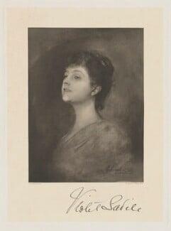 Gertrude Violet (née Webster-Wedderburn), Lady Savile, by Frederick John Jenkins, after  Franz Seraph von Lenbach - NPG D40560