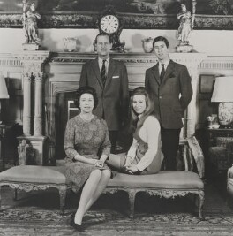 Queen Elizabeth II; Prince Philip, Duke of Edinburgh; Princess Anne; Prince Charles, by Murray & Rowntree - NPG P1598