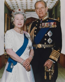 Queen Elizabeth II; Prince Philip, Duke of Edinburgh, by Terry O'Neill - NPG P1599