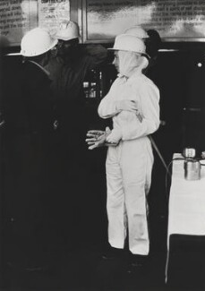 Queen Elizabeth II visits the Silverwood Colliery in Yorkshire, by Andrew Davidson, for  Camera Press: London: UK - NPG x134735
