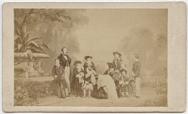 Queen Victoria with her family, by Caldesi, Blanford & Co, after  Leonida Caldesi - NPG x134737