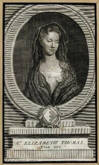Elizabeth Thomas, by Giles King - NPG D40746