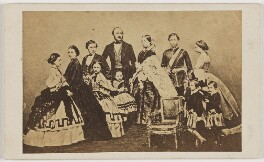 Queen Victoria with her family, after John Jabez Edwin Mayall, 1860s - NPG x134742 - © National Portrait Gallery, London