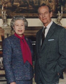 Queen Elizabeth II; Prince Philip, Duke of Edinburgh, by Terry O'Neill - NPG P1603