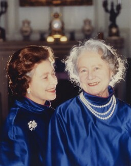 Queen Elizabeth II; Queen Elizabeth, the Queen Mother, by Norman Parkinson - NPG P1608