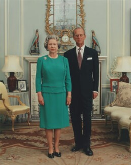 Queen Elizabeth II; Prince Philip, Duke of Edinburgh, by David Secombe - NPG P1611