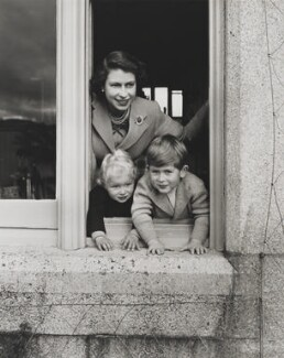 Queen Elizabeth II; Princess Anne; Prince Charles, by Studio Lisa (Lisa Sheridan) - NPG P1614