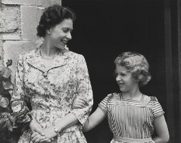 Queen Elizabeth II; Princess Anne, by Studio Lisa (Lisa Sheridan) - NPG P1620