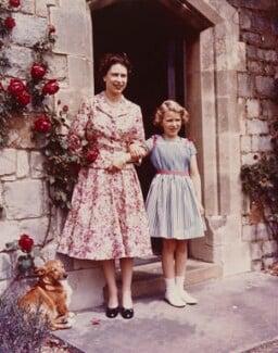 Queen Elizabeth II; Princess Anne, by Studio Lisa (Lisa Sheridan) - NPG P1622