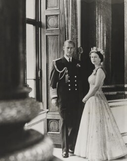 Prince Philip, Duke of Edinburgh; Queen Elizabeth II, by Lord Snowdon - NPG P1640