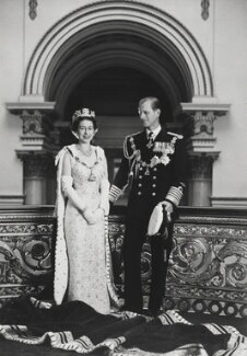 Queen Elizabeth II; Prince Philip, Duke of Edinburgh, by Lord Snowdon - NPG P1643