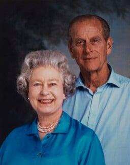 Queen Elizabeth II; Prince Philip, Duke of Edinburgh, by Lord Snowdon - NPG P1646