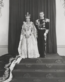 Queen Elizabeth II; Prince Philip, Duke of Edinburgh, by Unknown photographer - NPG P1656